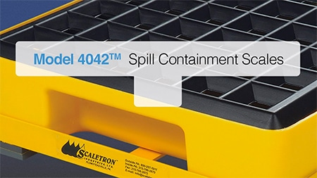 Spill containment scales